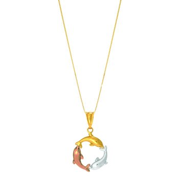 14K Gold Dolphin Necklace