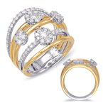 S. Kashi  & Sons Yellow & White Gold Diamond Ring