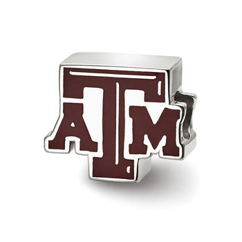 Sterling Silver Texas A&M University NCAA Bead