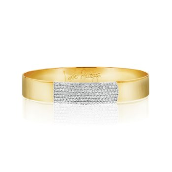 Yellow gold diamond Affair strap bracelet