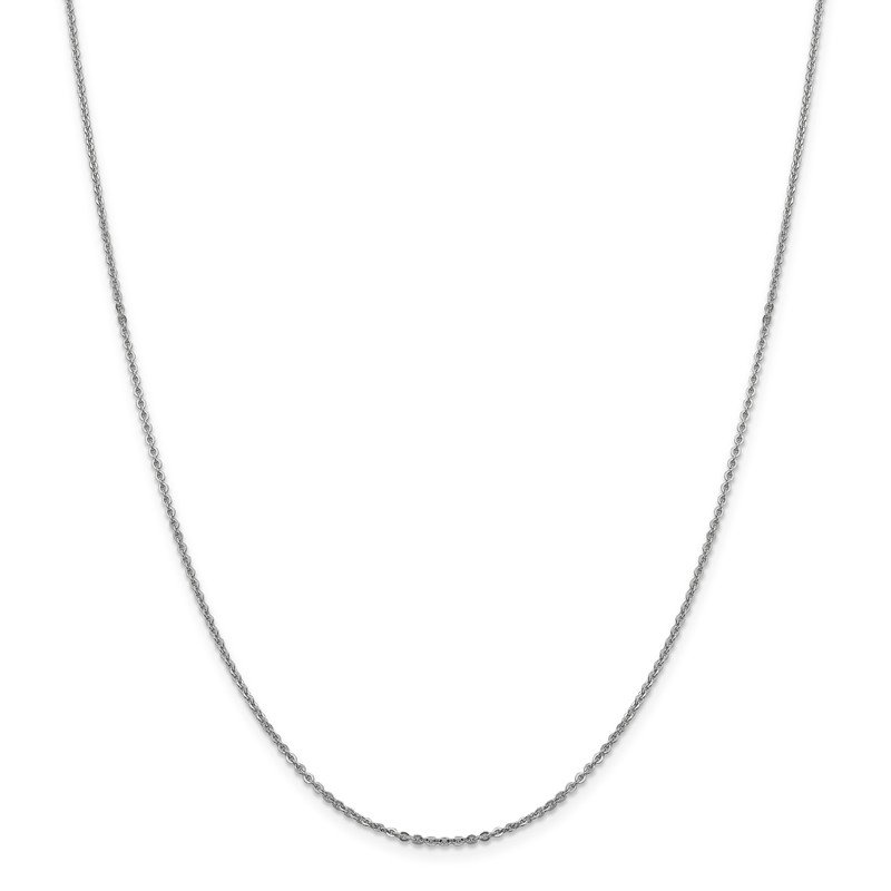Leslie's Leslie's 14K White Gold 1.7mm Flat Cable Chain