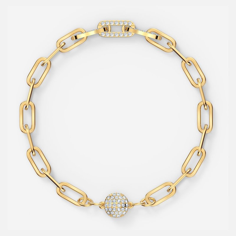 Swarovski The Elements Chain Bracelet, White, Gold-tone plated