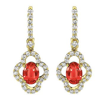 Ruby Earrings-CE2270YRU