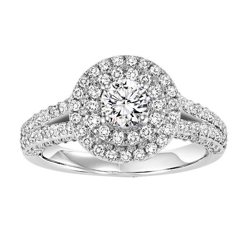 Bridal Bells 14K Diamond Engagement Ring 7/8 ctw With 1/2 ct Center