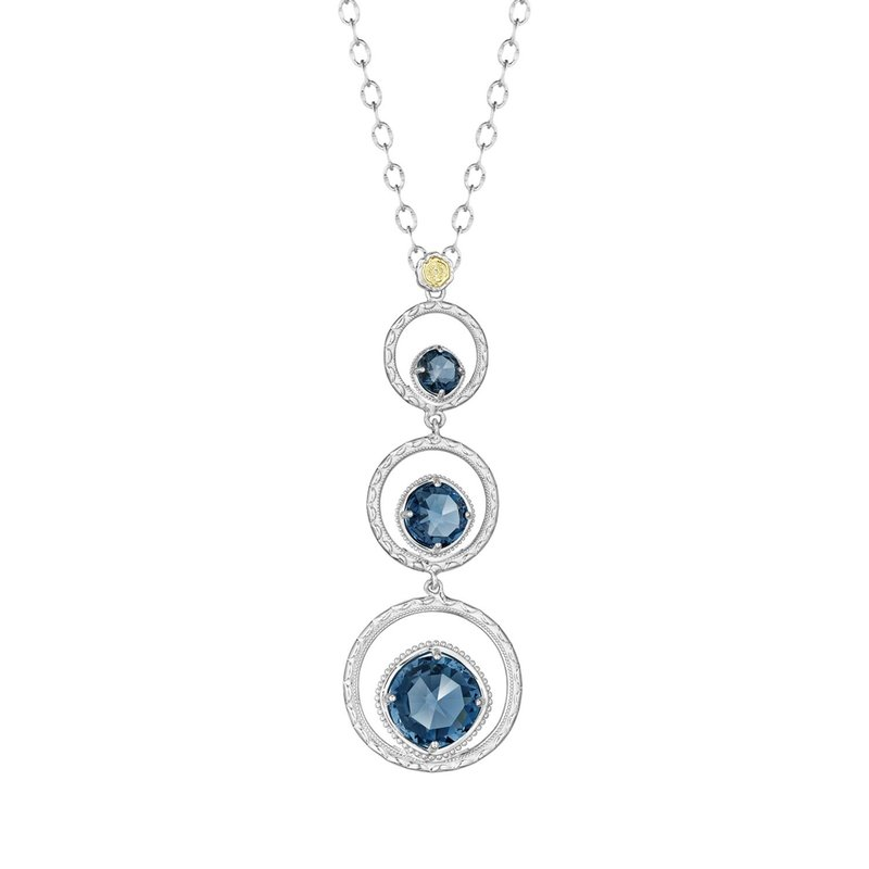 Tacori Fashion Skipping Stone Necklace featuring London Blue Topaz
