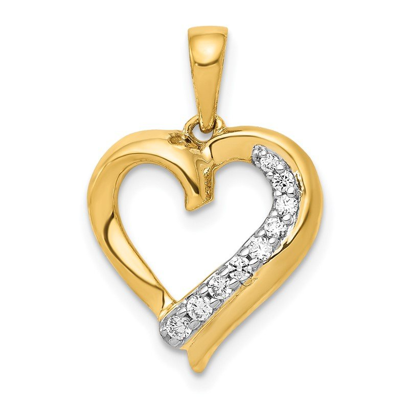 Quality Gold 14k 1/10ct. Diamond Heart Pendant