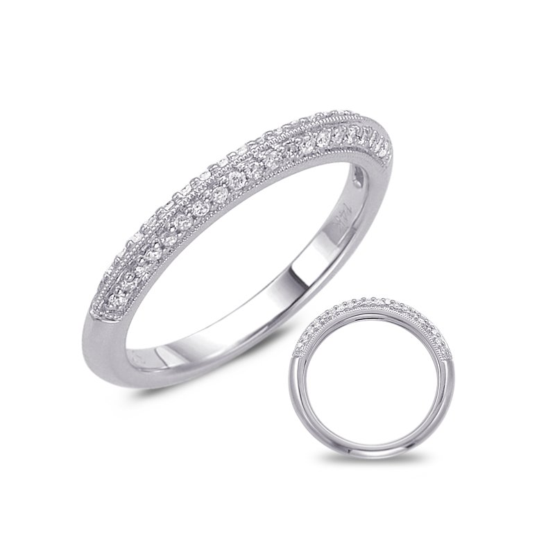 S. Kashi  & Sons White Gold Wedding Band