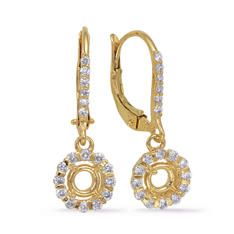 S. Kashi  & Sons Yellow Gold Earring. For 2 x 33 Pt