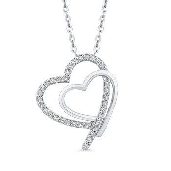 0.14 Ct Diamond Heart Pendant with Chain