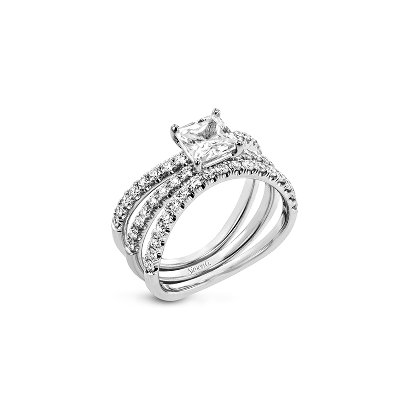 Simon G LR1083-PC WEDDING SET
