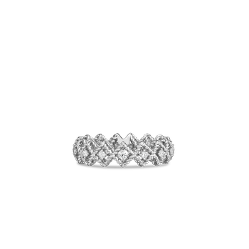 18KT GOLD SINGLE ROW DIAMOND BAND RING
