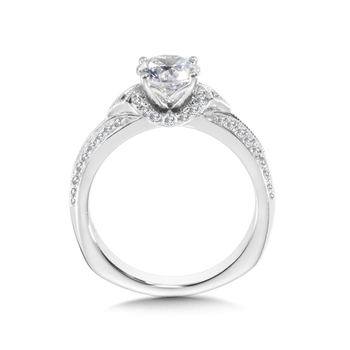 Diamond Engagement Ring Mounting in 14K White Gold (0.33 ct. tw.)