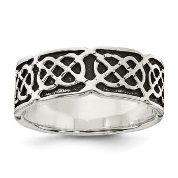Sterling Silver Antiqued Celtic Ring