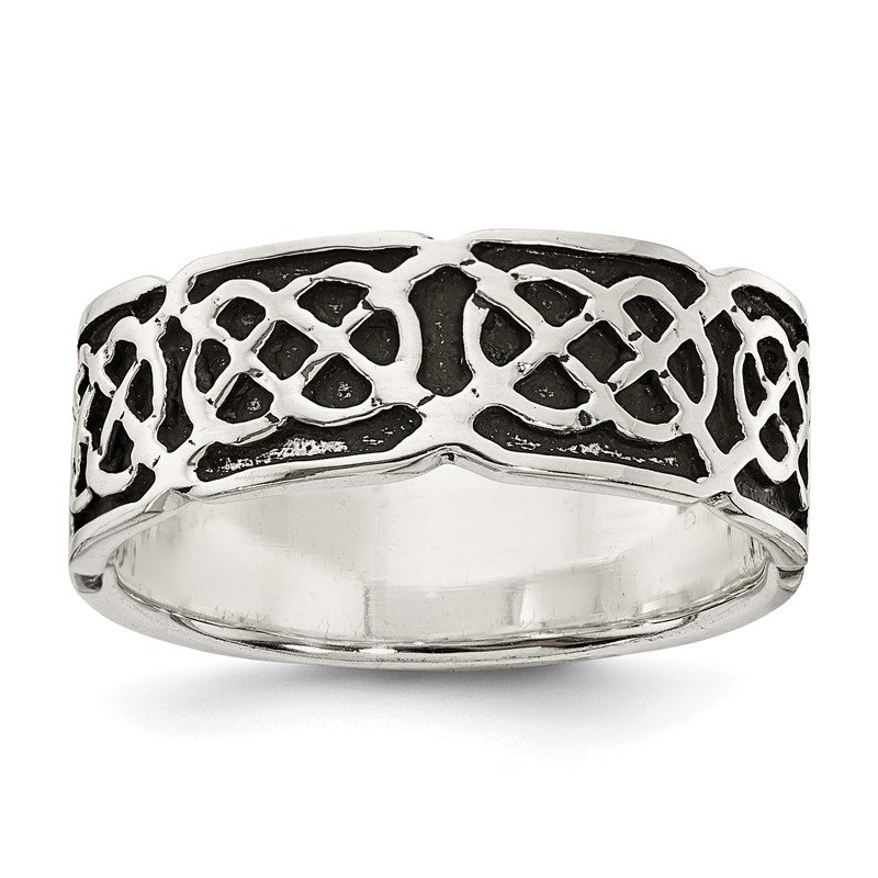 Quality Gold Sterling Silver Antiqued Celtic Ring