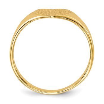 14k 7.5x8.5mm Closed Back Heart Signet Ring