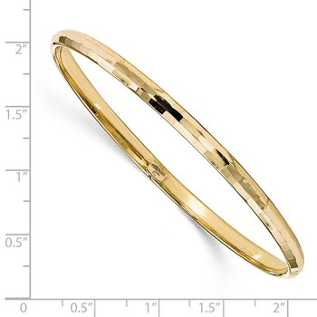 Leslie's 10K Polished Bangle