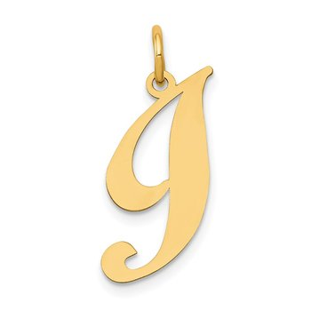 14K Medium Fancy Script Letter I Initial Charm