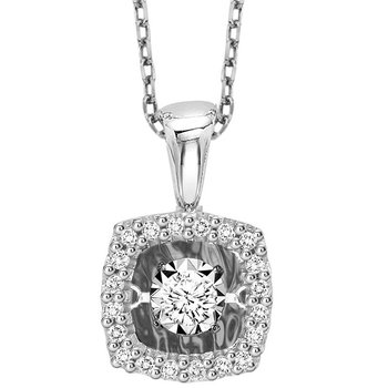 14K Diamond Rhythm Of Love Pendant 1/7 ctw