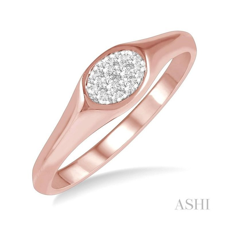 Gemstone Collection oval shape lovebright essential diamond promise ring