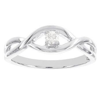 Sterling Silver 1/10ct Solitaire Promise Ring
