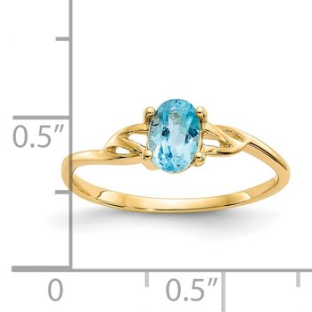 14k Blue Topaz Birthstone Ring