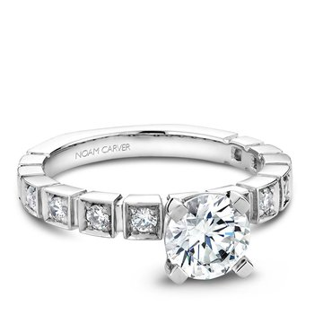 Noam Carver Modern Engagement Ring B008-01A