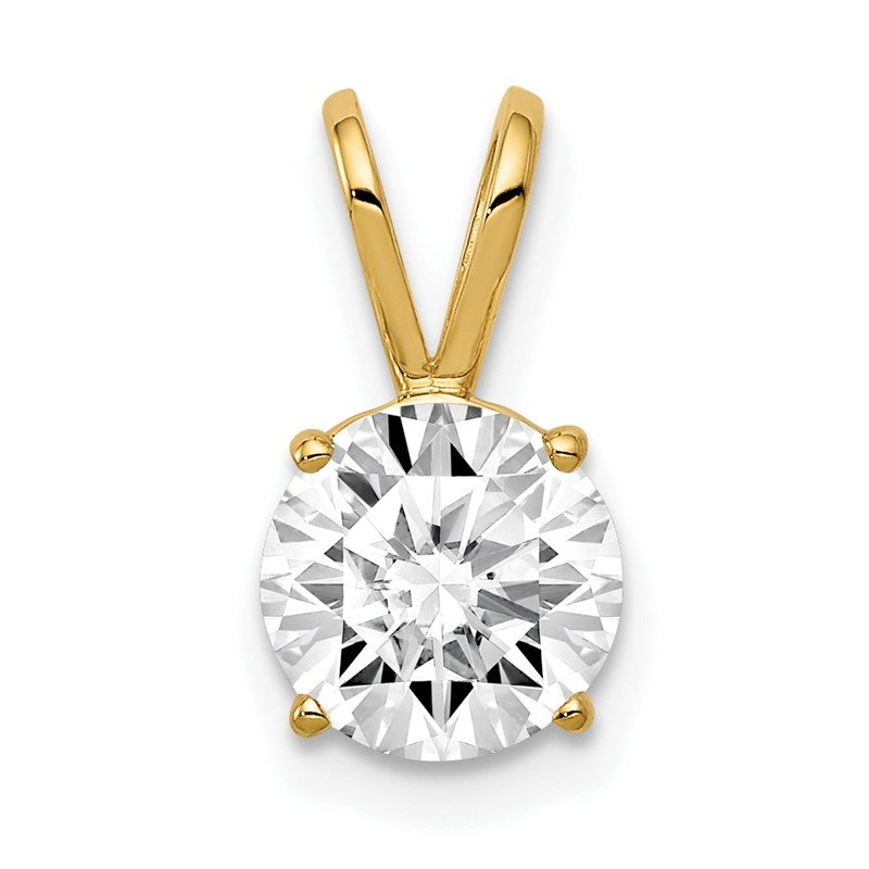 Quality Gold 14k 7mm Cubic Zirconia pendant