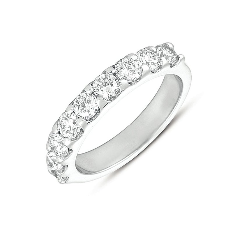 S. Kashi & Sons Bridal White Gold Prong Set Band
