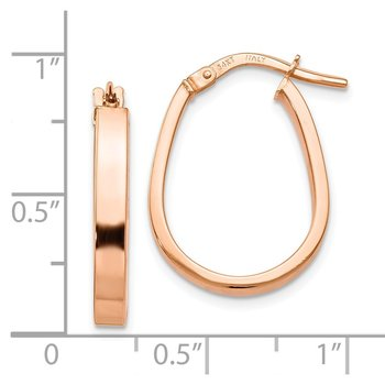 Leslie's 14K Rose Gold Polished U-Shape Hoop Earrings