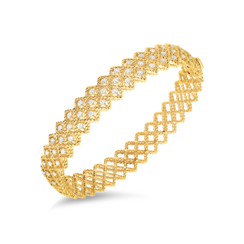 18KT GOLD 2 ROW DIAMOND BANGLE