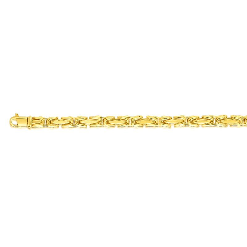 Royal Chain 14K Gold 4.5mm Square Byzantine