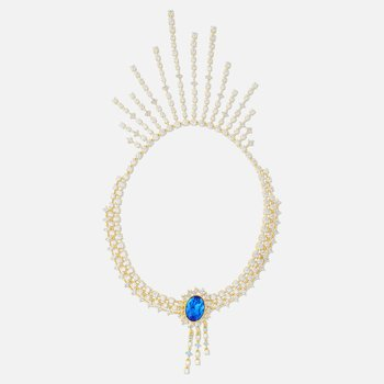 Penélope Cruz Icons of Film Necklace, Blue, Gold-tone plated