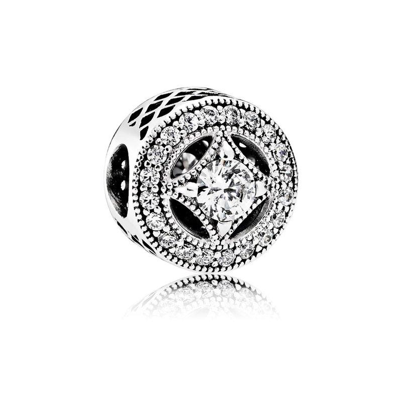 4ec0463f522 Beré Jewelers: PANDORA Vintage Allure Charm, Clear Cz
