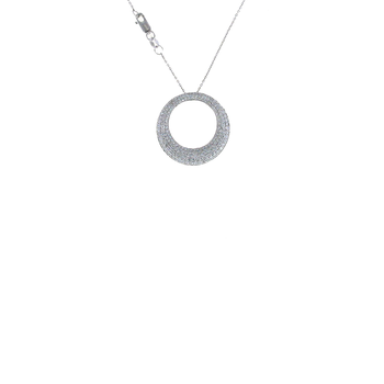 18KT WHITE GOLD MEDIUM DIAMOND PENDANT