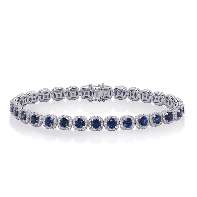 S. Kashi  & Sons White Gold Saphhire & Diamond Bracelet