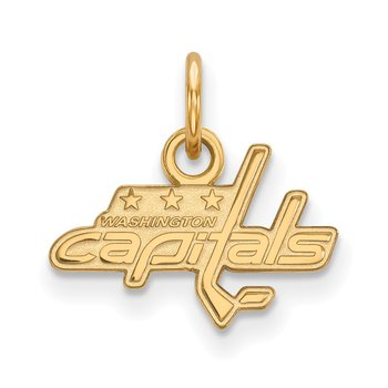 Gold Washington Capitals NHL Pendant