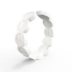 Qalo Women's Scallop Pearl Silicone Ring