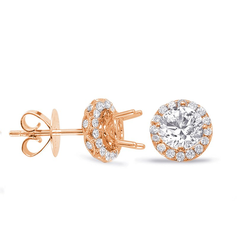 S. Kashi  & Sons Halo Diamond Earring For .50cttw Jacket