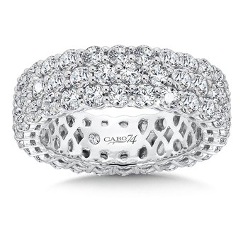 CARO 74 Eternity Band  in 14K White Gold (Size 7.5)