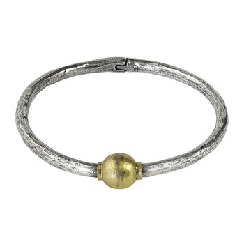 Rime Bangle - Round - Sterling Silver & Brass