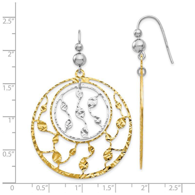 Leslies Sterling Silver Gold Tone Flash Plated Shepherd Hook Earrings
