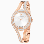 Swarovski Eternal Watch, Metal bracelet, White, Rose-gold tone PVD
