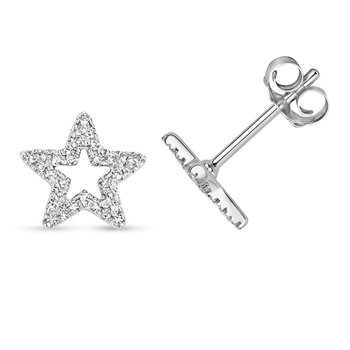 Diamond Earring Studs Star