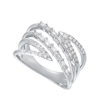 Diamond Bypass Waterfall Band in 14k White Gold (½ ctw)