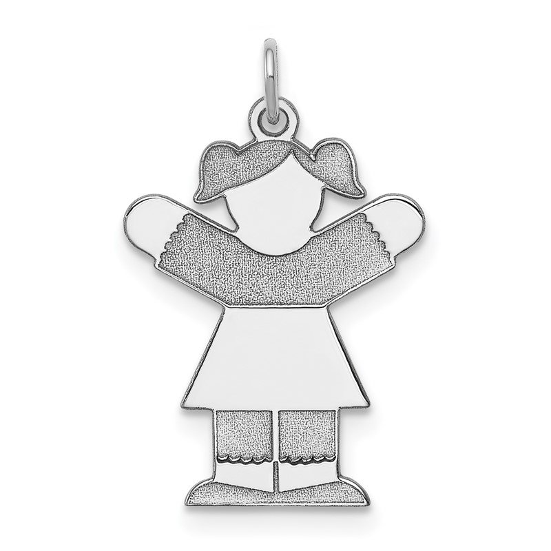 J.F. Kruse Signature Collection Sterling Silver Rhodium-plated Kid Charm
