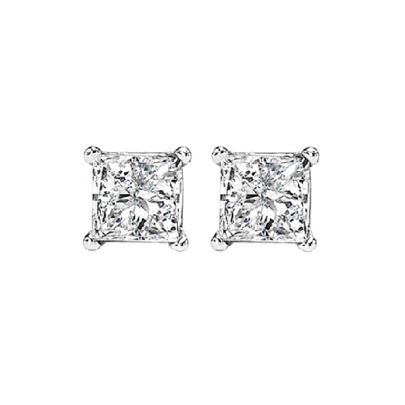 Gemsone 14K P/Cut Diamond Studs 1/2 ctw P3