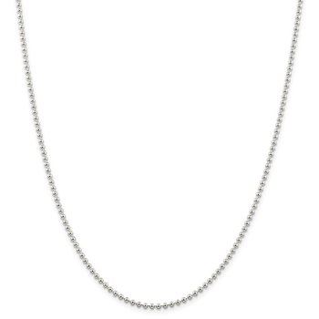 Sterling Silver 2.35mm Beaded Chain