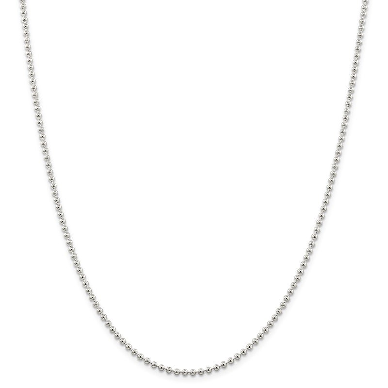 Quality Gold Sterling Silver 2.35mm Beaded Chain