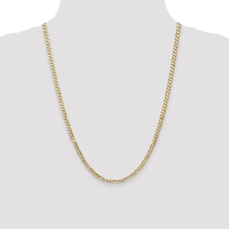 Quality Gold 14k 3.8mm Open Concave Curb Chain