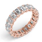 S. Kashi & Sons Bridal 18KRose Gold Emerald Cut Eternity Band